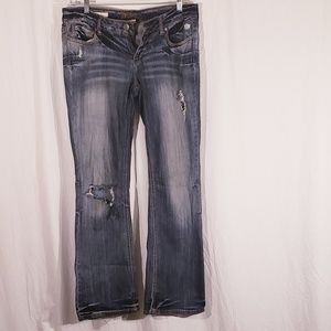 3/$20 Decree Distressed Bootcut Jeans size 13